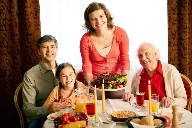 Soirée de thanksgiving photographie stock libre de droits