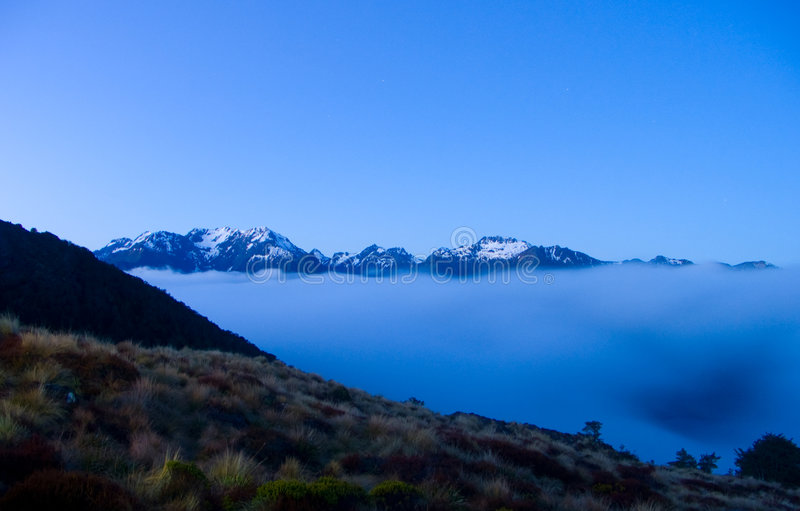 Soirée en Nouvelle Zélande photo libre de droits