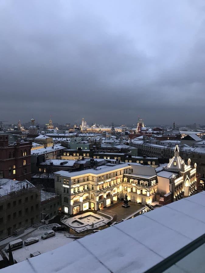 Soirée Moscou photographie stock libre de droits
