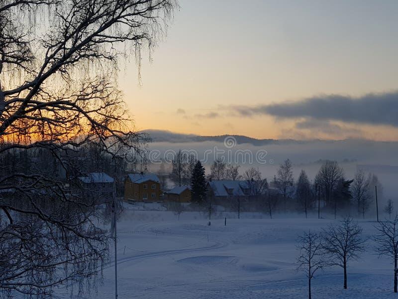 Soirée norvégienne photographie stock libre de droits