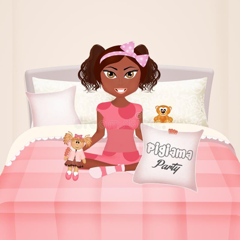 Soirée pyjamas illustration stock