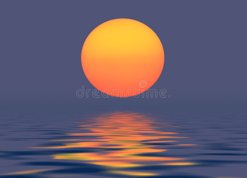 Soirée Sun illustration stock
