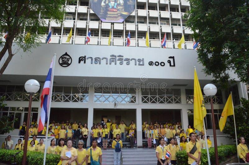 09,2016-soixante-dixième année de BANGKOK THAILAND-JUNE dans le règne du roi de la Thaïlande photos stock