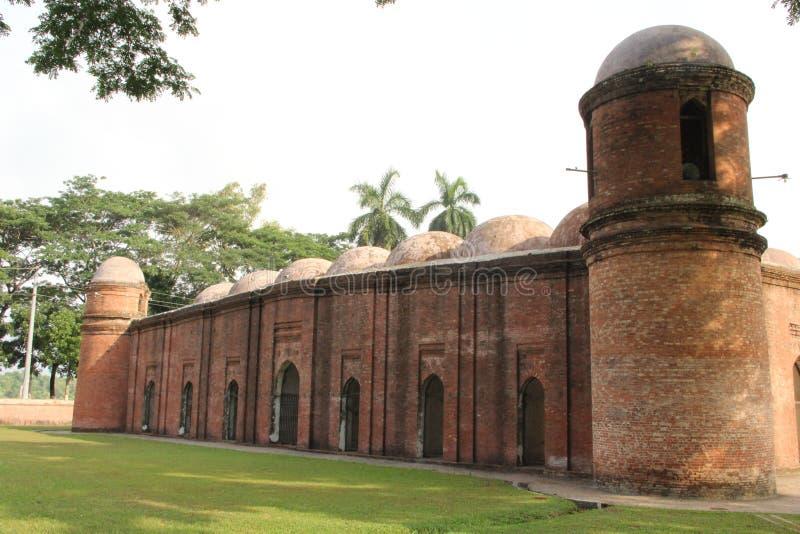 Soixante mosquées de dôme au Bangladesh photographie stock libre de droits