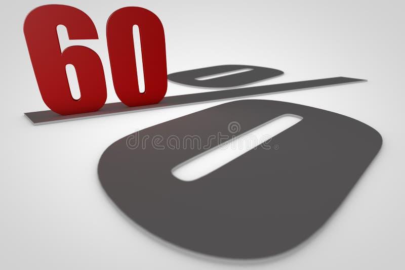 Soixante pour cent 3d rendent photo libre de droits