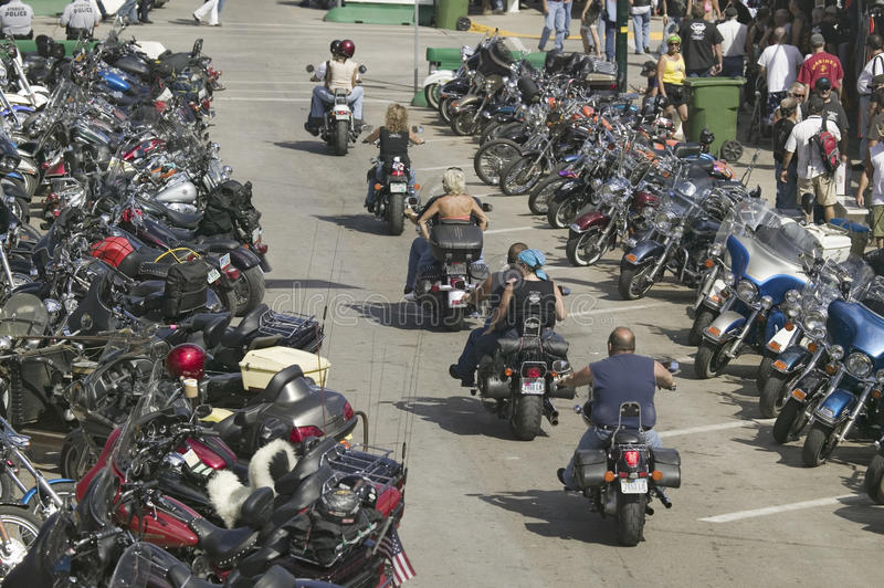 soixante-septième Rassemblement annuel de moto de Sturgis, photos stock