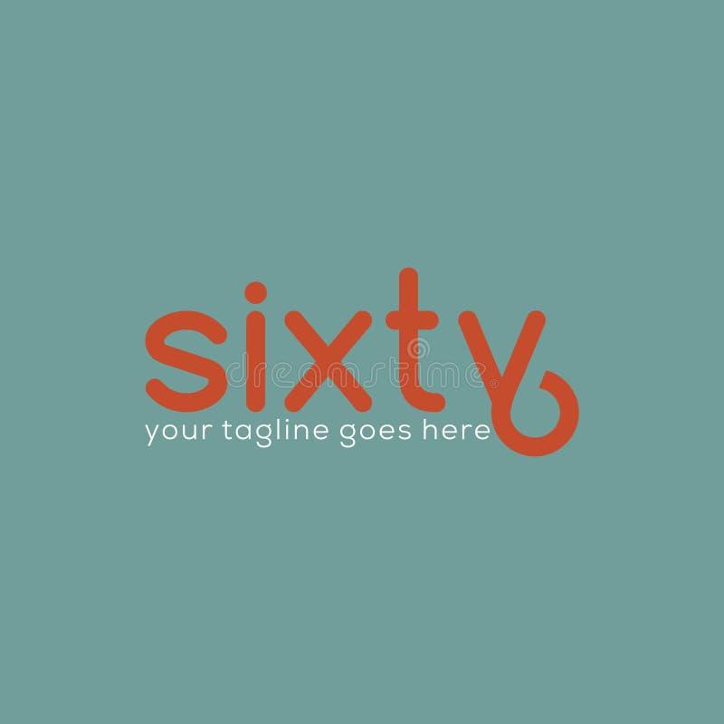 Soixante-six Logo Design créatif illustration stock