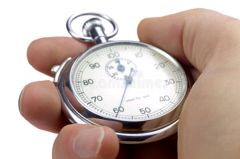 soixantième d'une minute sur un chronomètre photo libre de droits