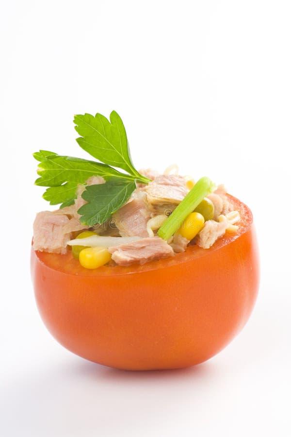 Soja de maïs de céleri de tomate bourrée de thon photo libre de droits