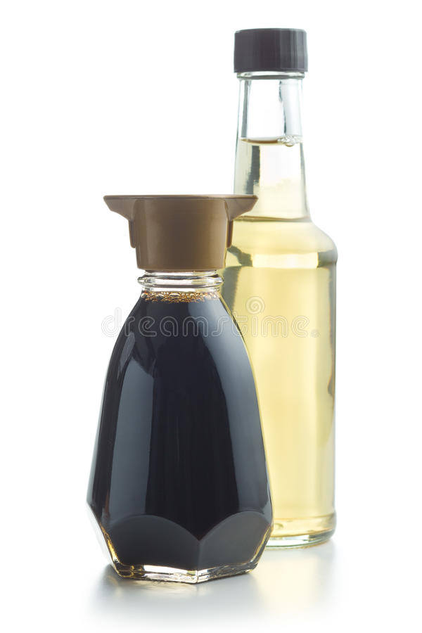 Soja kumberland i ocet butelka zdjęcie stock