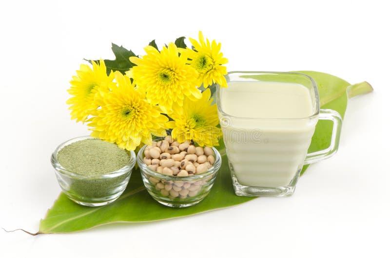 Sojaböna som är blandad med grönt te. arkivfoton