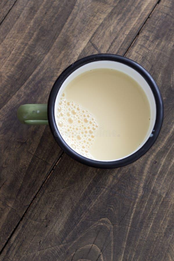 Sojabönor mjölkar [soja mjölkar], royaltyfria bilder