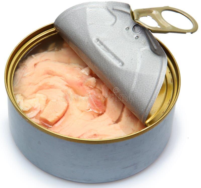 Sojabohnenöl-freier in Büchsen konservierter Albacore-Thunfisch lizenzfreies stockbild
