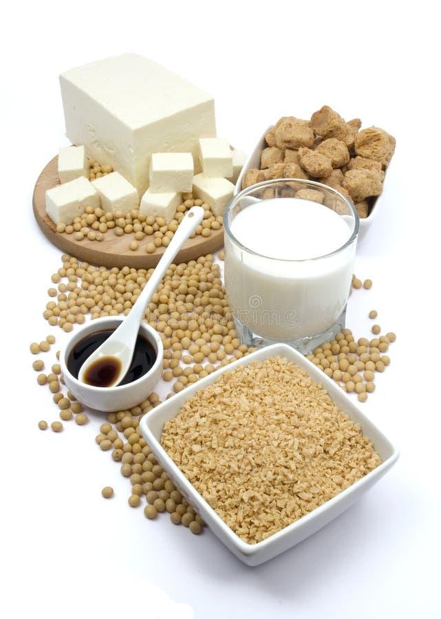 Sojabohnenölprodukte lizenzfreies stockbild