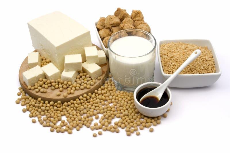 Sojabohnenölprodukte lizenzfreie stockfotos