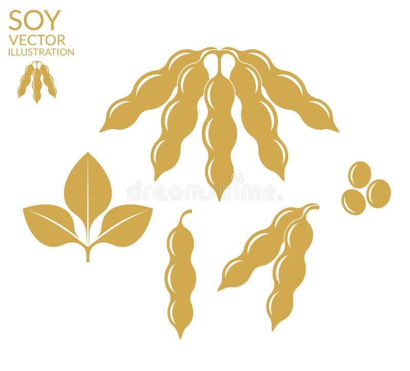 sojaboon royalty-vrije illustratie