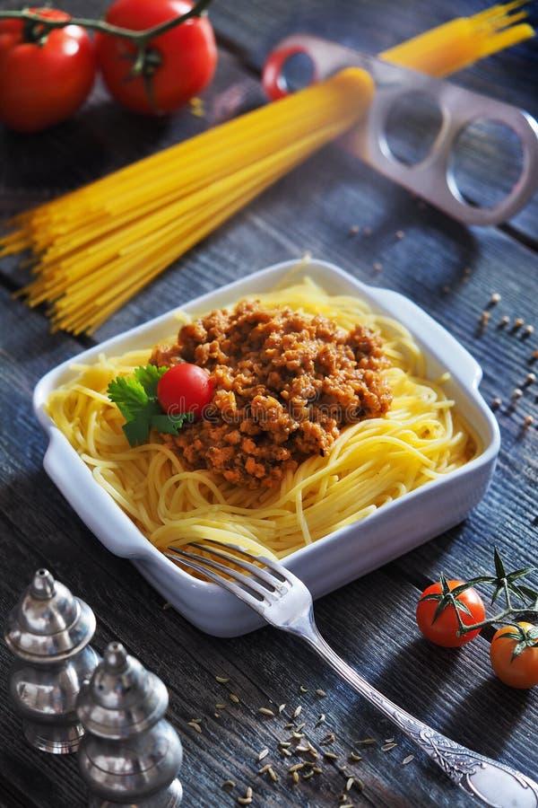 Sojaspaghetti stock afbeelding