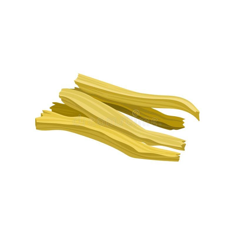 Sojatofu huid, gezonde vegetarische voedsel vectorillustratie op een witte achtergrond vector illustratie