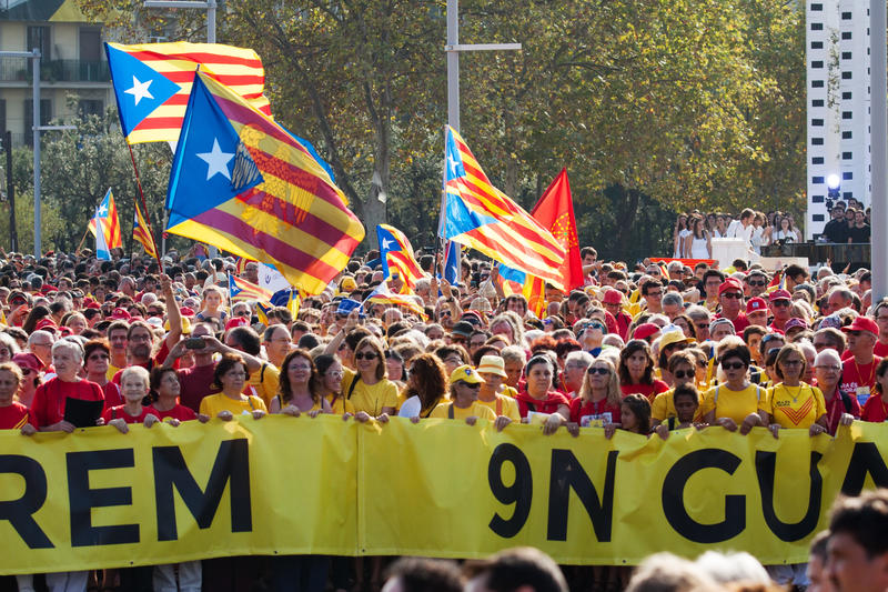 Sojusznik w 300th rocznicie strata niezależność Catalonia obraz royalty free
