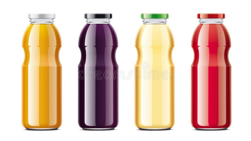Sok butelek mockups ustawiający royalty ilustracja