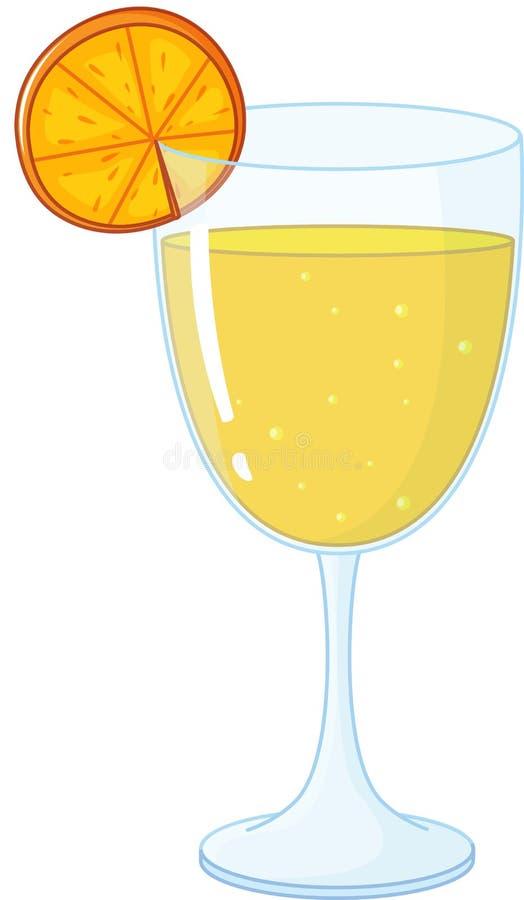 sok pomarańcze ilustracja wektor