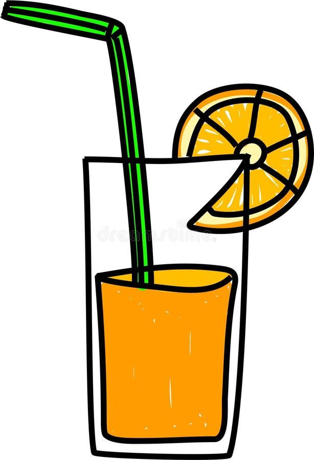 sok pomarańczowy ilustracji