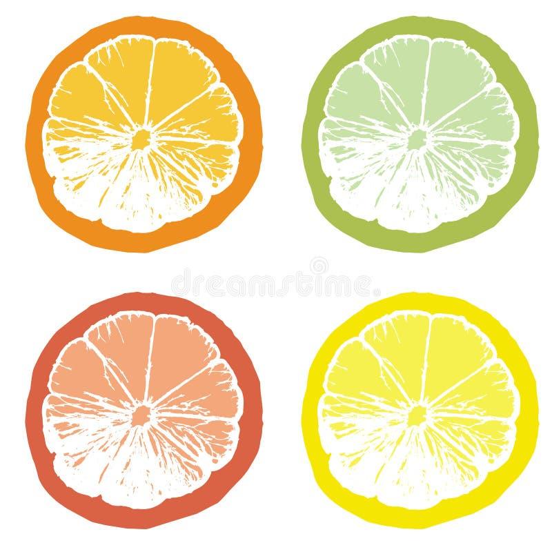 sok pomarańczowy kawałek royalty ilustracja