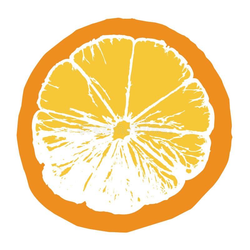 sok pomarańczowy kawałek ilustracja wektor