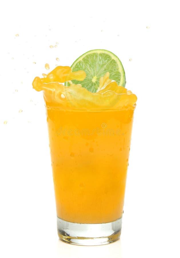sok pomarańczowy ' last splash ' zdjęcia stock