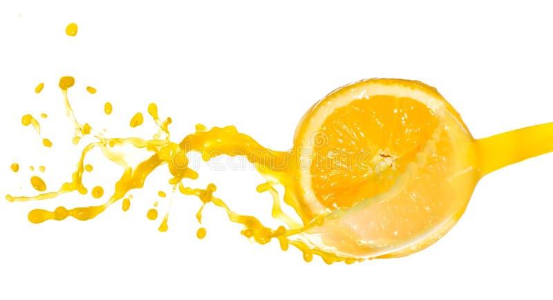 Sok pomarańczowy pluśnięcie fotografia stock