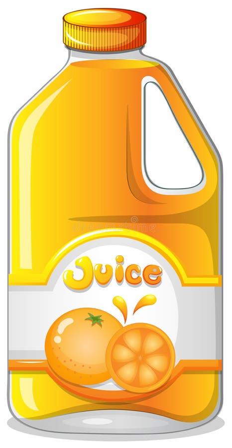 Sok pomarańczowy w galonie ilustracji