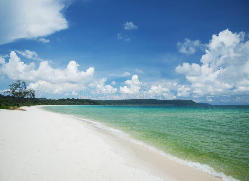 Sok san long beach koh rong island near sihanoukville cambodia. Sok san long white beach koh rong tropical island near sihanoukville cambodia stock photos