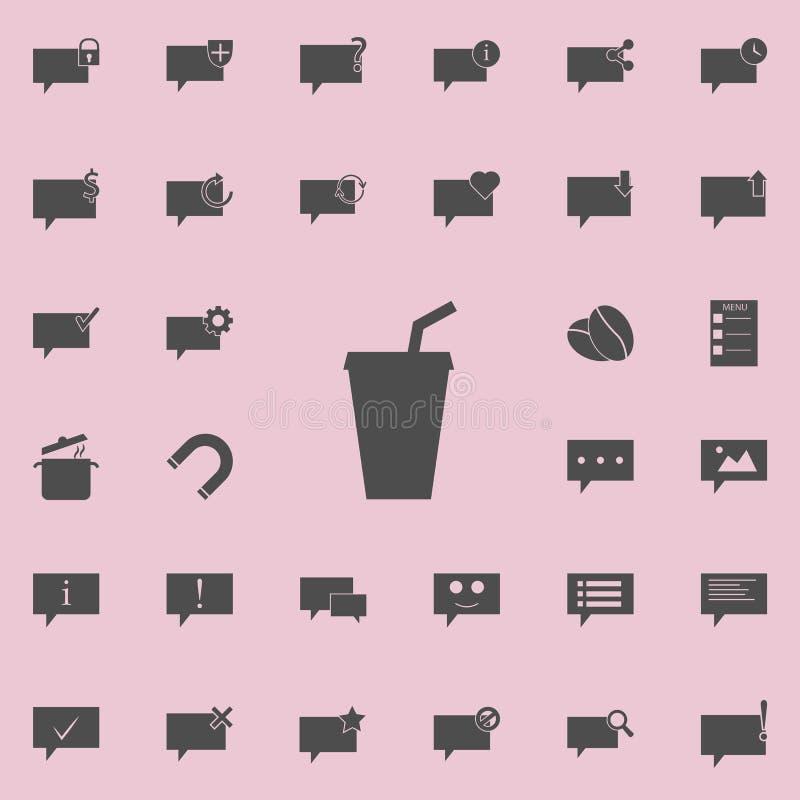sok w szklanej ikonie Szczegółowy set minimalistic ikony Premii ilości graficznego projekta znak Jeden inkasowe ikony dla ilustracji
