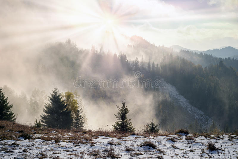 Sokal Ridge en la caída imagen de archivo