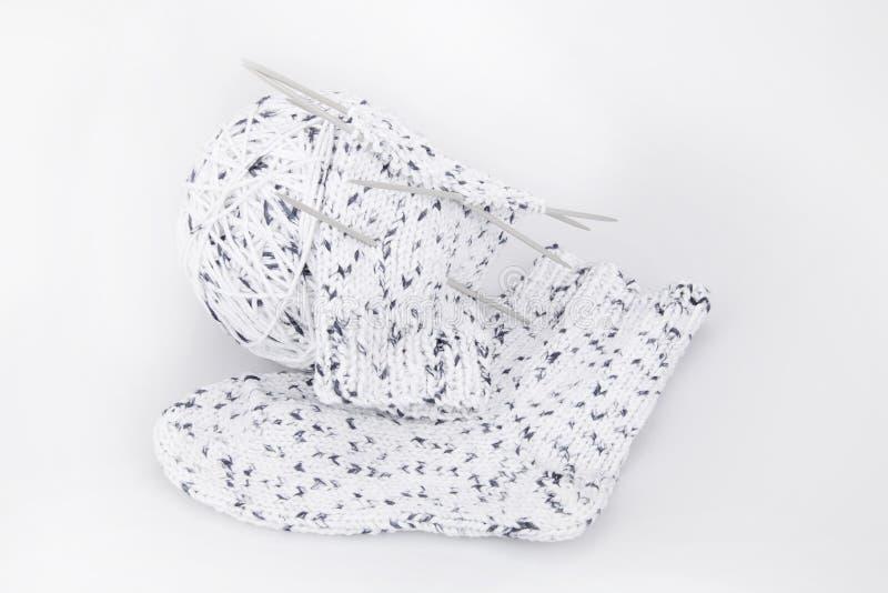 Sokken lopend breien royalty-vrije stock afbeelding