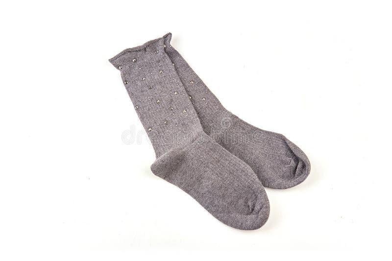 Sokken met geïsoleerd patroon stock foto
