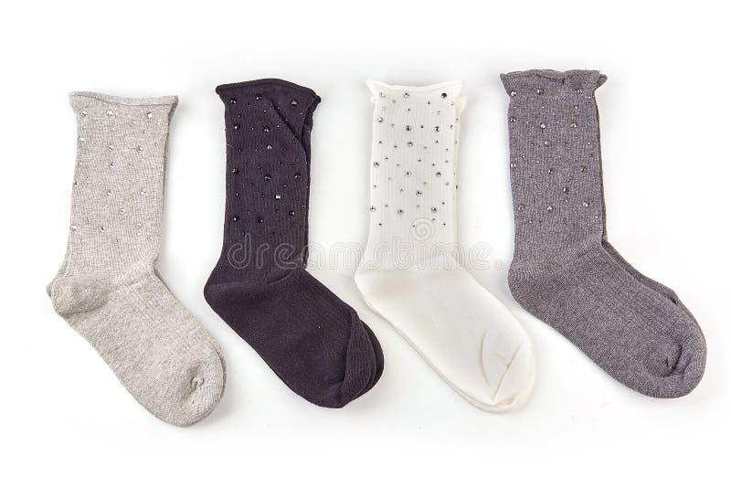 Sokken met geïsoleerd patroon stock afbeelding