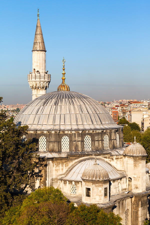 Sokollu Mehmet Pasha Mosque. Against the blue sky on clear day, Istanbul, Turkey stock images