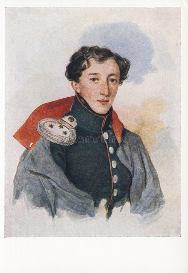 Sokolov Portrait en okänd officer arkivbild