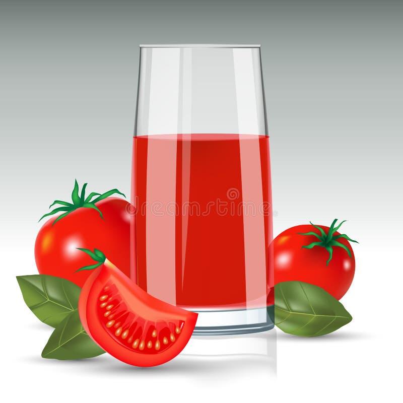 soku pomidor royalty ilustracja