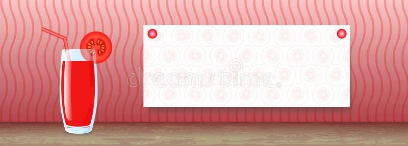 Soku sztandar Pomidor royalty ilustracja