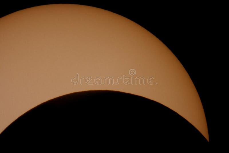 sol- övre för tät förmörkelse royaltyfri bild