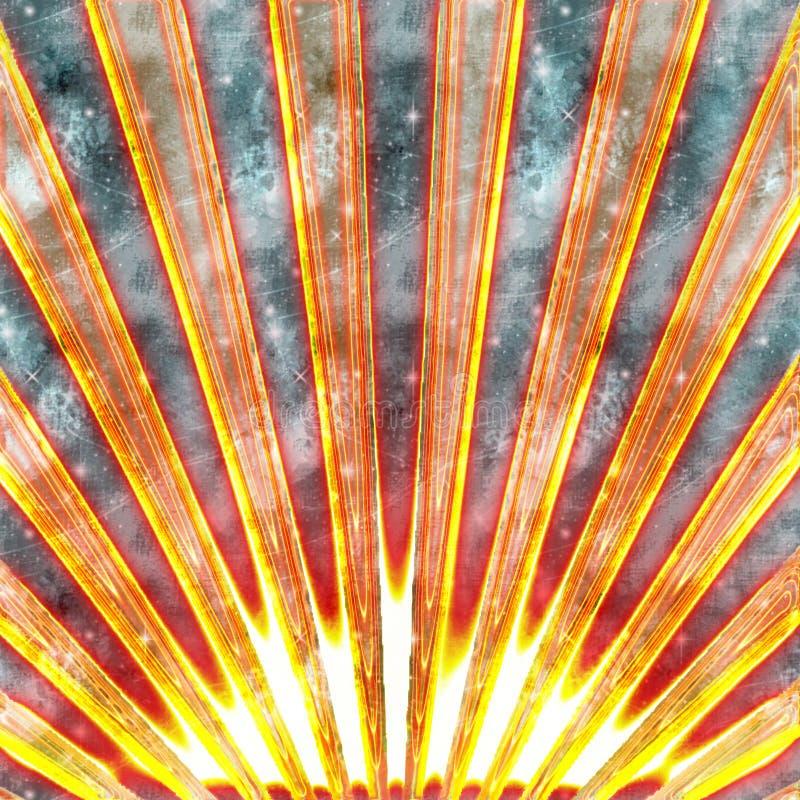 Sol abstracto ilustración del vector
