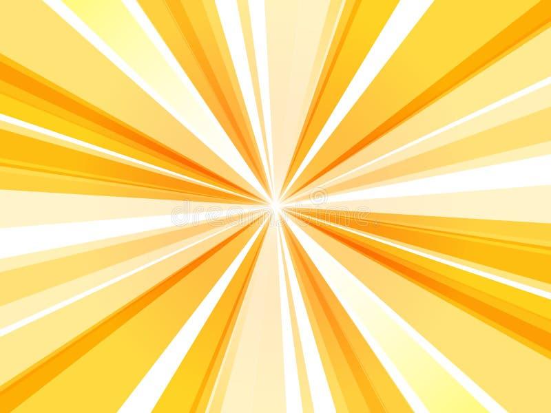 Sol abstrato amarelo do papel de parede dos raios ilustração do vetor