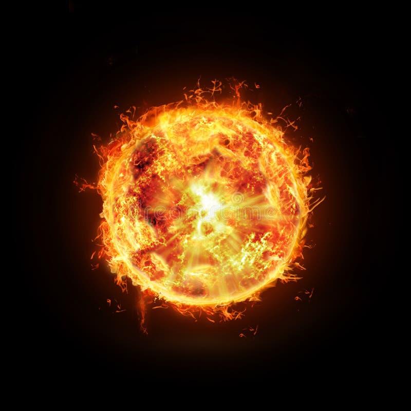 Sol ardiente ilustración del vector