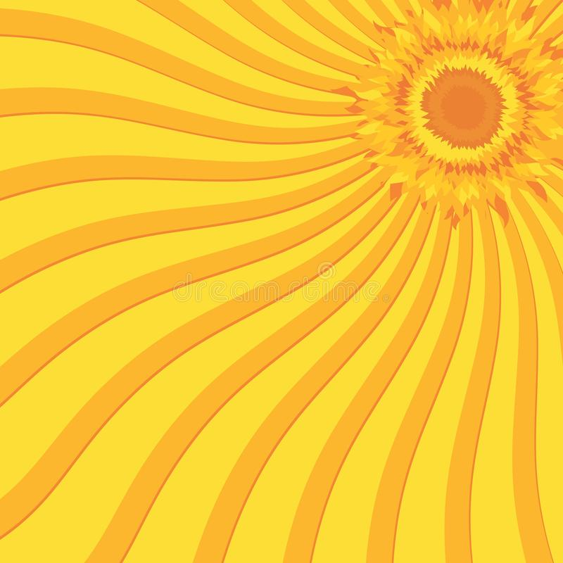 Sol brilhante do verão ilustração royalty free
