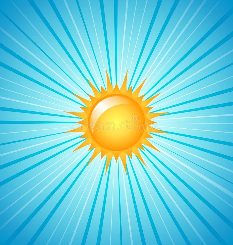 Sol brillante grande ilustración del vector