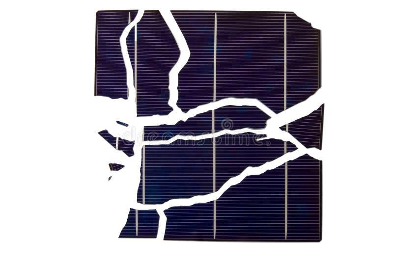sol- broken cell royaltyfria foton