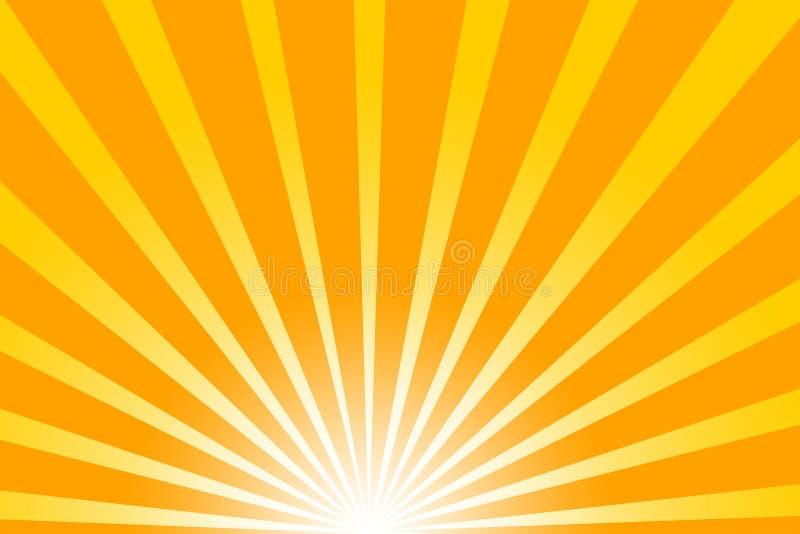 Sol caliente del verano ilustración del vector