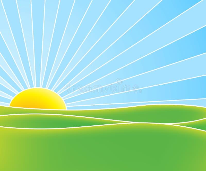 Sol caliente del verano stock de ilustración